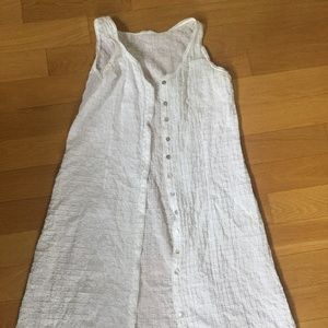 Eileen Fisher Organic Cotton White Button-Down